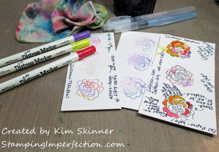 Stamping Imperfection Distress Markers