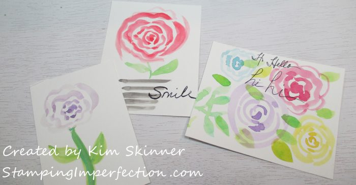 Stamping Imperfection Watercoloring Florals