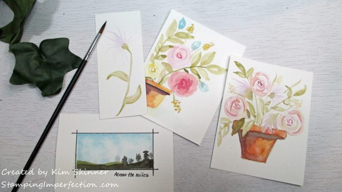 Stamping Imperfection Watercolor Efforts