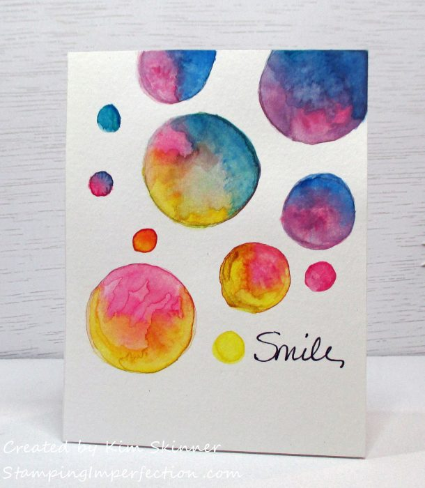 Stamping Imperfection Simply Watercoloring