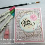 Simon Says Stamp August Card Kit With Watercolor Markers Technique