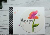 Stamping Imperfection Watercoloring with a template