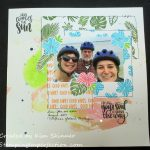 Catherine Pooler Stamp Of Approval Tropical Paradise Scrapbook Layout