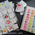 Stamp Room Organization:  Ink Swatches and Blending Foam