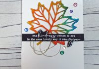 Stamping Imperfection C9 Thankful Leaves Die