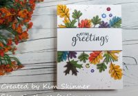 Stamping Imperfection Single Layer Fall Card Sunny Studio