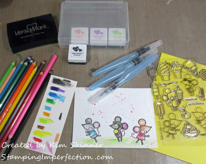 Stamping Imperfection 3 Ways to add watercolor pencils