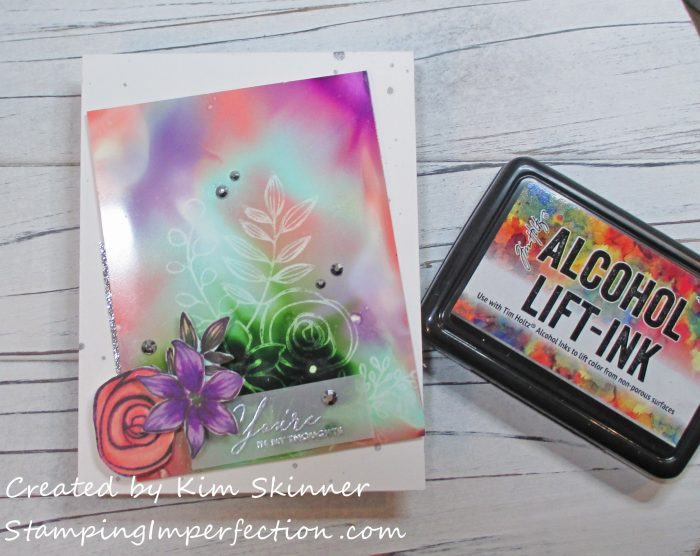 Stamping Imperfection Alcohol Lift Ink