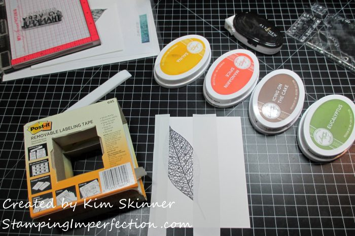 Stamping Imperfection masking technique