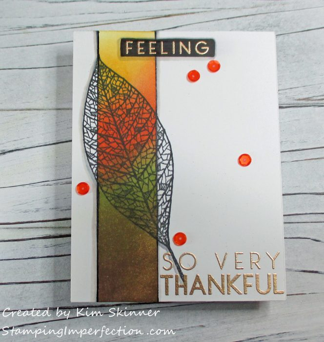 Stamping Imperfection Single Layer Card drop shadow