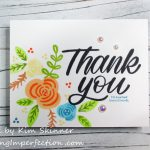 Creating A Colorful Thank You Card