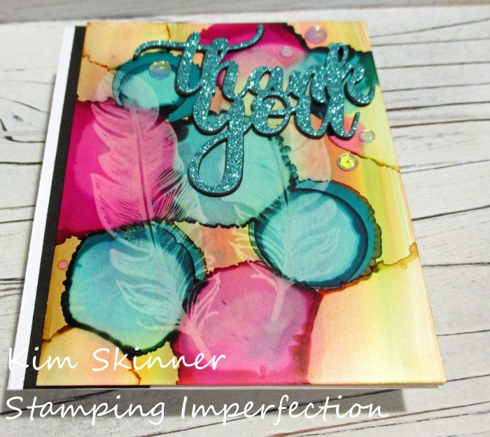 Stamping Imperfection Alcohol Ink Backgrounds
