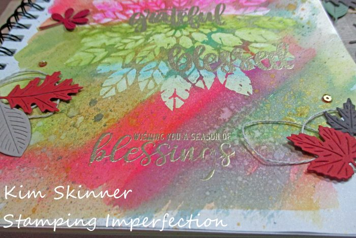 stamping imperfection art journal fall