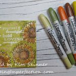 Mixed Media Art: Distress Crayons And Embossing On Canvas