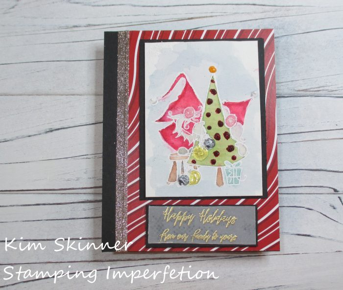 Stamping Imperfection Burnished Glitter Technique