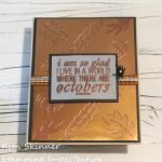 Create A Quick And Easy Heat Embossed Foil Background Fall Card