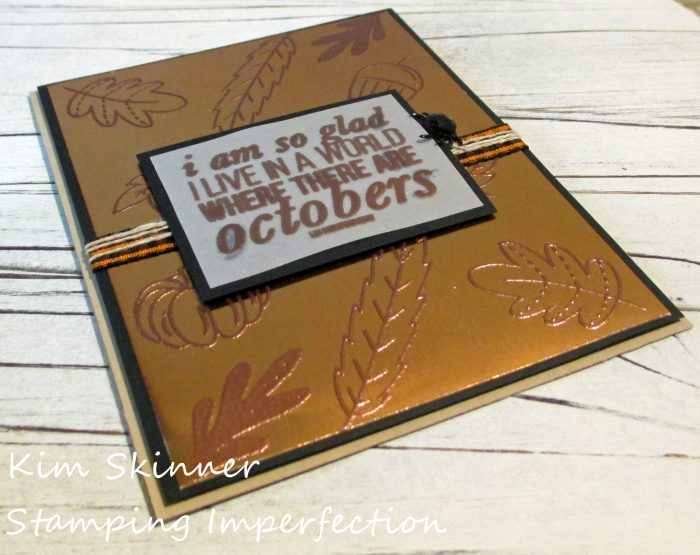 Stamping Imperfection Heat Embossed Foiled Background