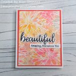 Create A Quick And Easy Watercolor Card With Shimmer!