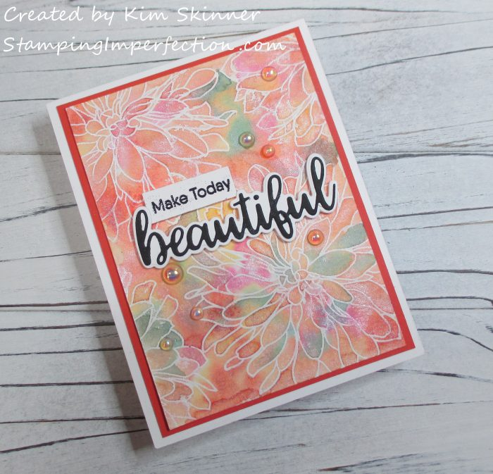 Stamping Imperfection MFT Beautiful Blooms