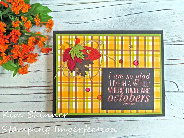 Stamping Imperfection Plaid Marker Background