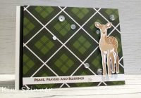 stamping imperfection plaid modern deer