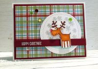 Stamping Imperfection Christmas Plaid