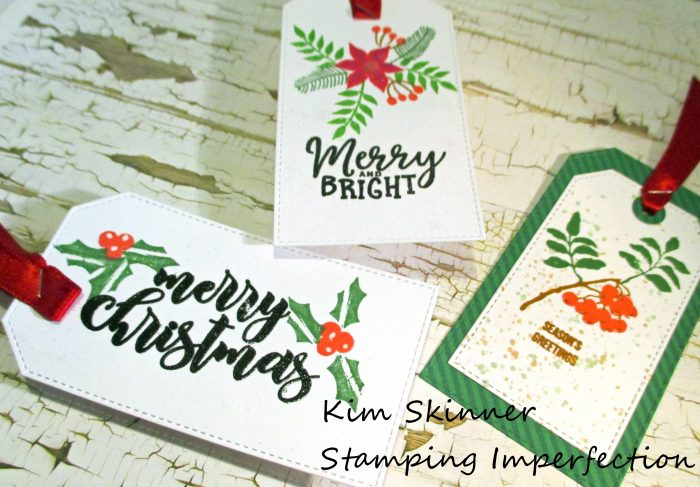 Stamping Imperfection Altenew Christmas Tags