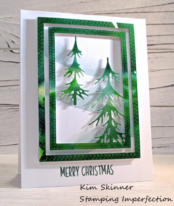 Stamping Imperfection Pine Forest Frame