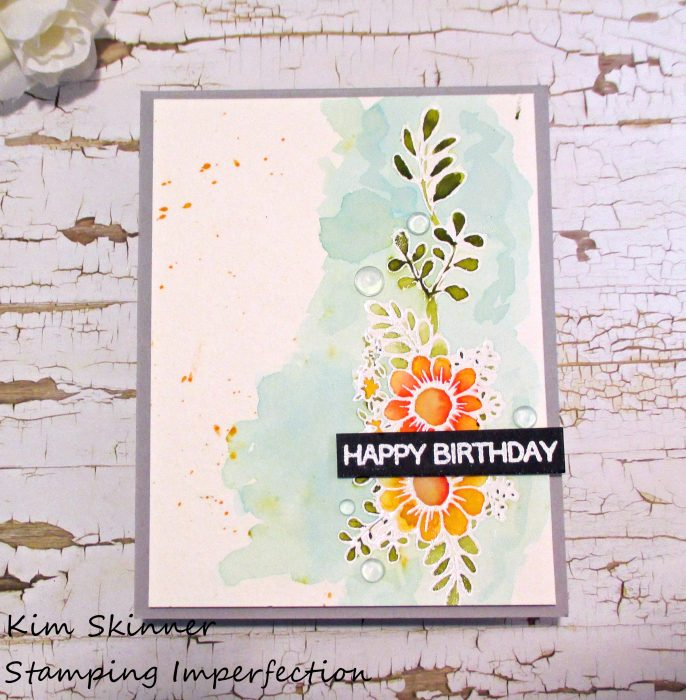 Stamping Imperfection Watercolor Card with Altenew and CAS(E) this sketch challenge