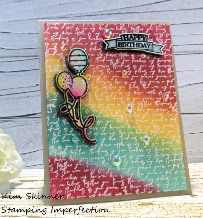 Stamping Imperfection Love Note Background Techniques