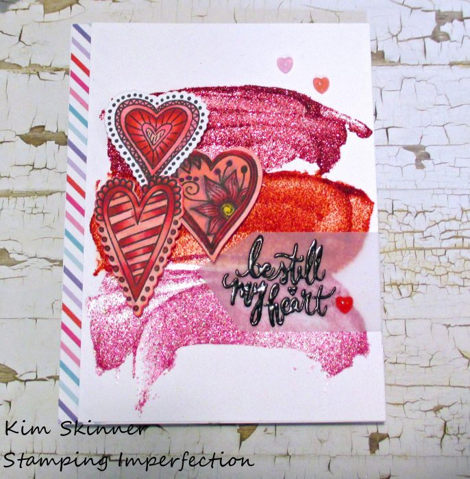 Stamping Imperfection Easy Mixed Media Valentine's Day Cards