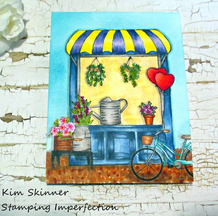 Stamping Imperfection My Monthly Hero Scene Building Flower Shop Copic Coloring