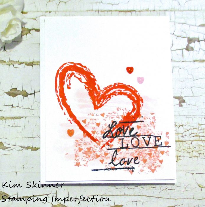 Stamping Imperfection Single Layer CAS card Unity Stamps