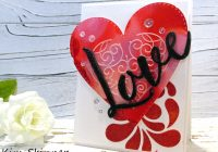 Stamping Imperfection Mixed Media Heart Card