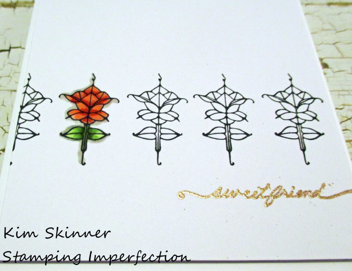 Stamping Imperfection Boutique Card Single Layer Clean and Simple
