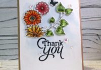Stamping Imperfection Clean and Simple Floral Card
