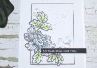 Stamping Imperfection Hand Drawn Details on a Clean and Simple One Layer Card