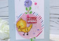 Colorful Mixed Media Spring Card