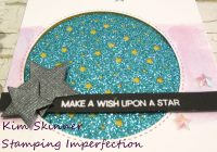 Starry circle quick and easy sparkle card