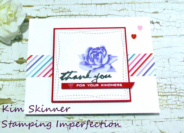 Stamping Imperfection Quick and Easy Thank You card