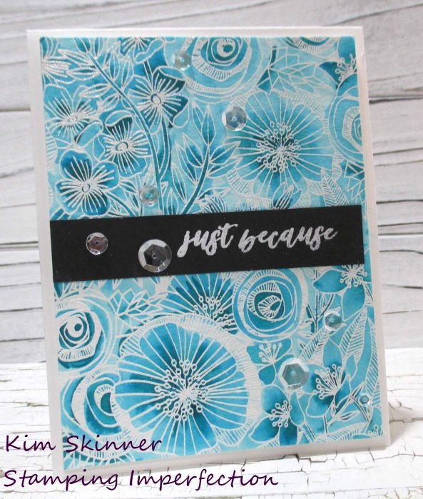 Cottage Garden Background Stamp 2 ways