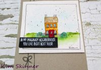 hand sketched watercolor house card