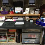 Craft Room Share:  Creating A Great Crafting Area in a Shared Space