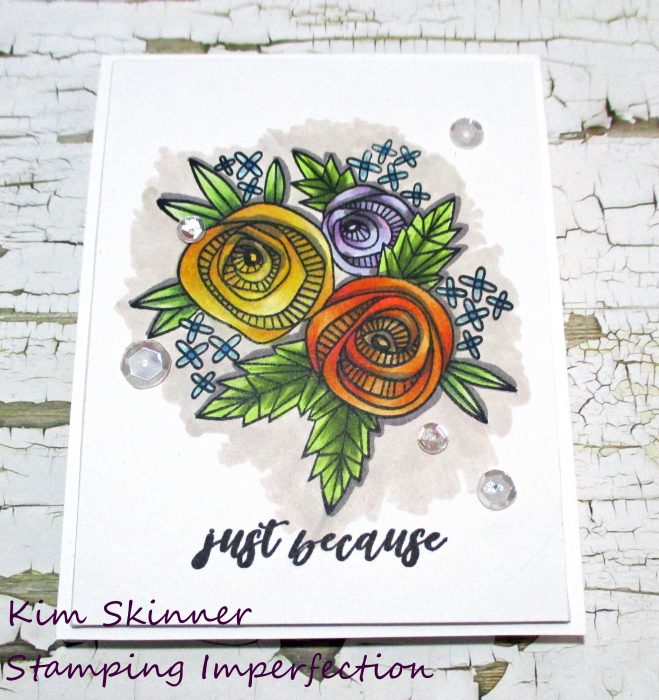 Altenew Artist Markers + Catherine Pooler Cottage Corsage