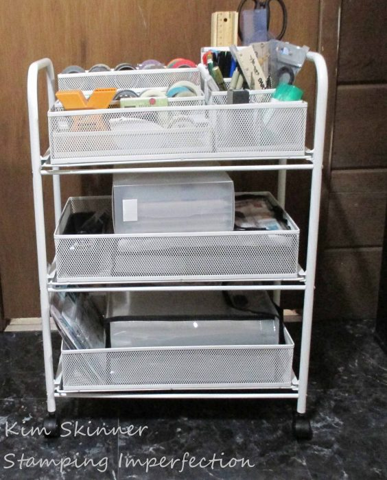 Craft Organization Small Cart for Journaling Supplies