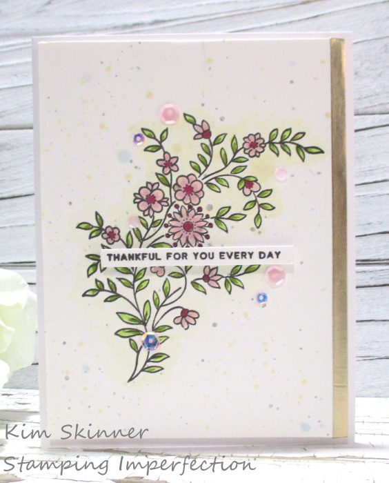 altenew flower vine sweet colored card