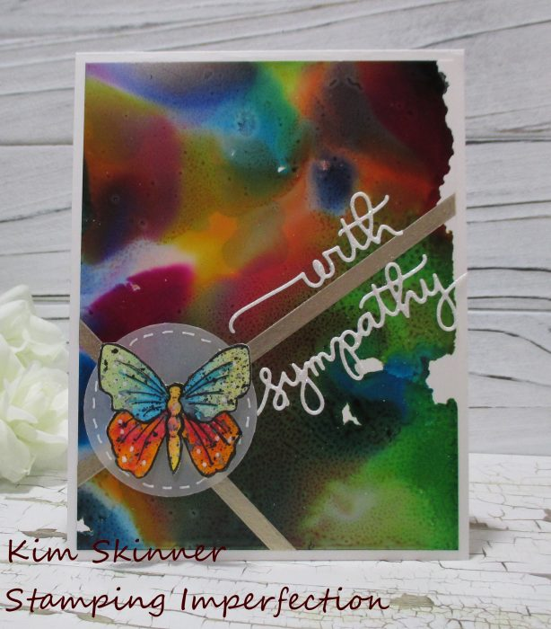 alcohol ink backgrounds and simon says kits