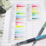 Quick Tip: Swatching Your Color Mediums + Free Printable Swatch Sheet For Altenew Watercolor Brushes