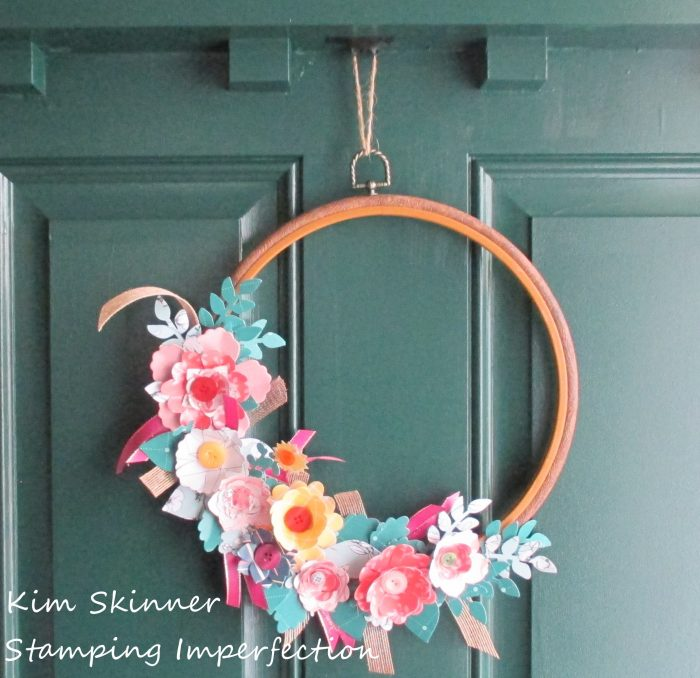 Craft Stash Diving Paper Floral Front Door Wreath