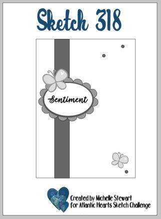 Clean and Simple Catherine Pooler Fluttering Friends Card